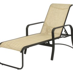 Sling Chaise Lounge Chair Ivory Accent 16 In Seat Montego Bay Aluminum Patio