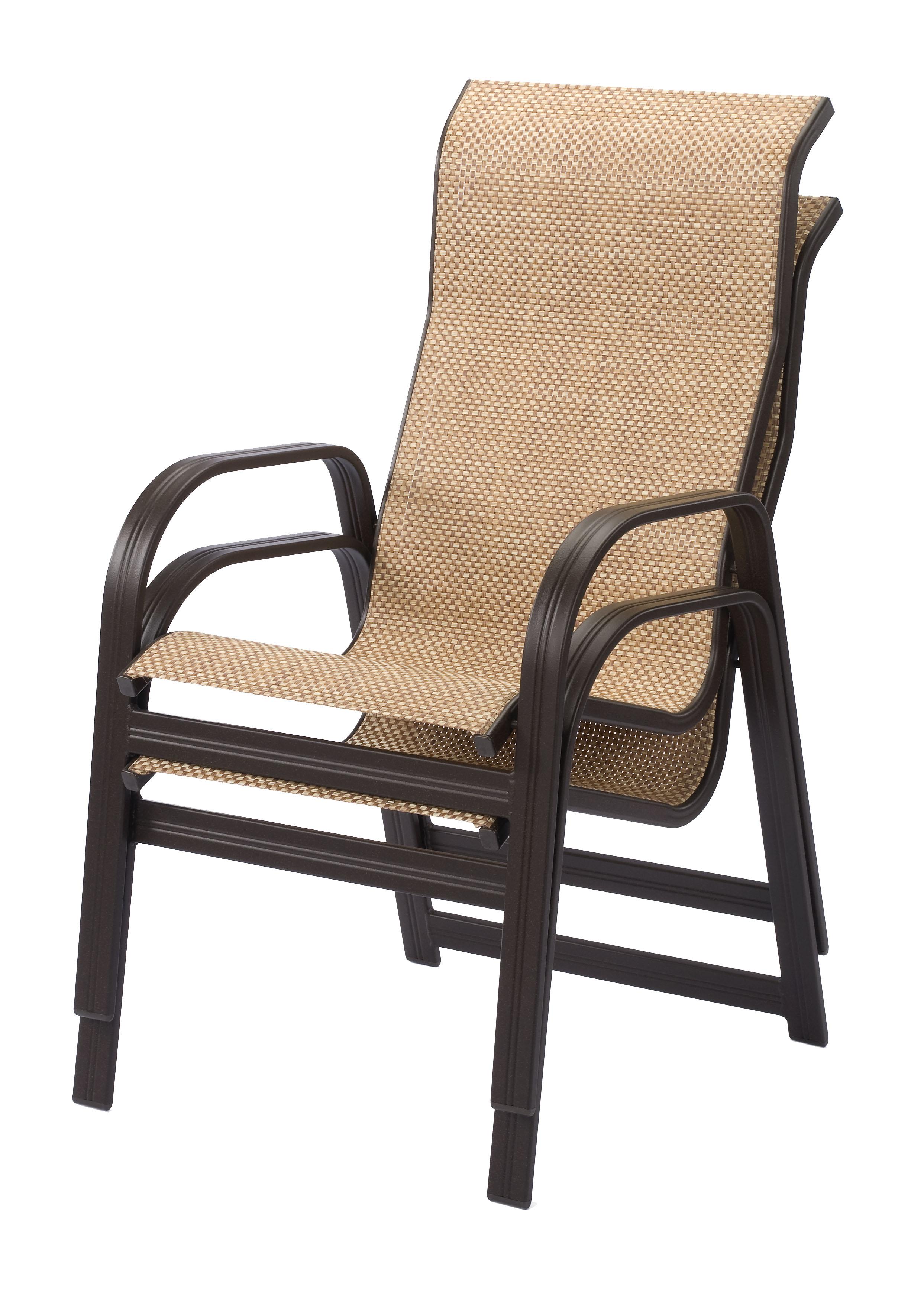 Cabo Sling High Back Aluminum Dining Arm Chair  ETT