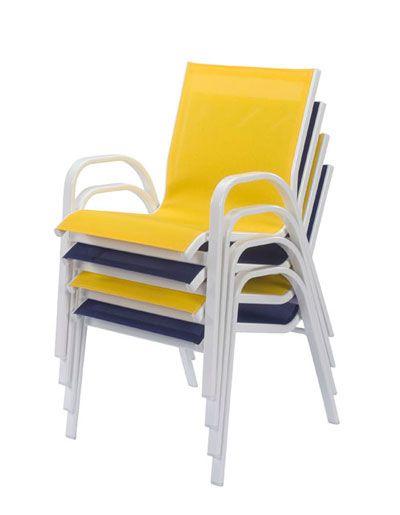 Seabreeze Aluminum Sling Patio Dining Chair  ETT
