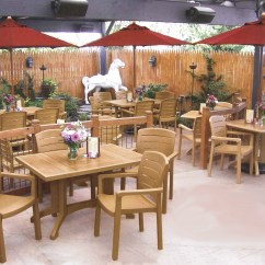 Restaurant Table And Chairs Teak Deck Grosfillex Acadia Classic Patio Dining Set