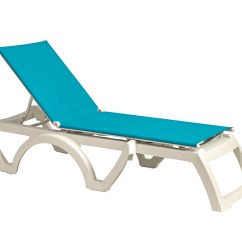 Resin Lounge Chair Diy Covers For A Wedding Grosfillex Calypso Adjustable Sling Chaise