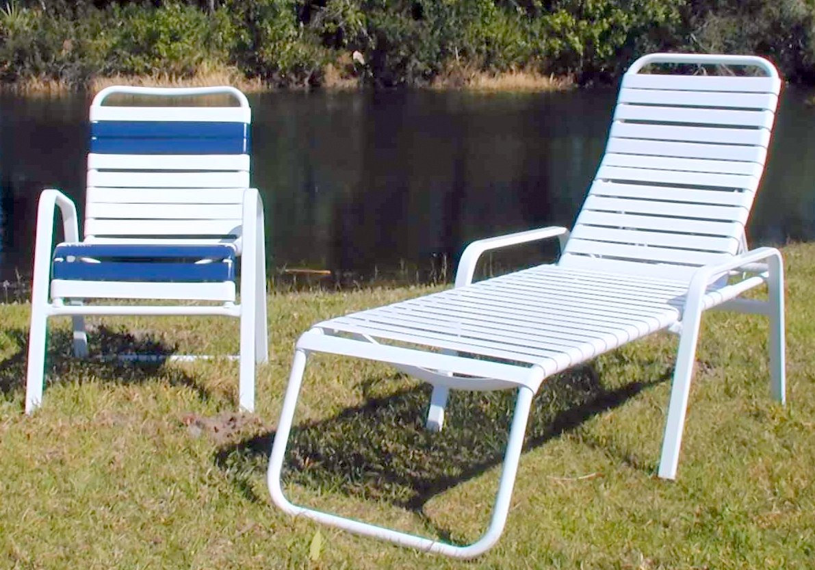 patio chair repair vinyl strap discount leather chairs regatta aluminum dining et andt distributors
