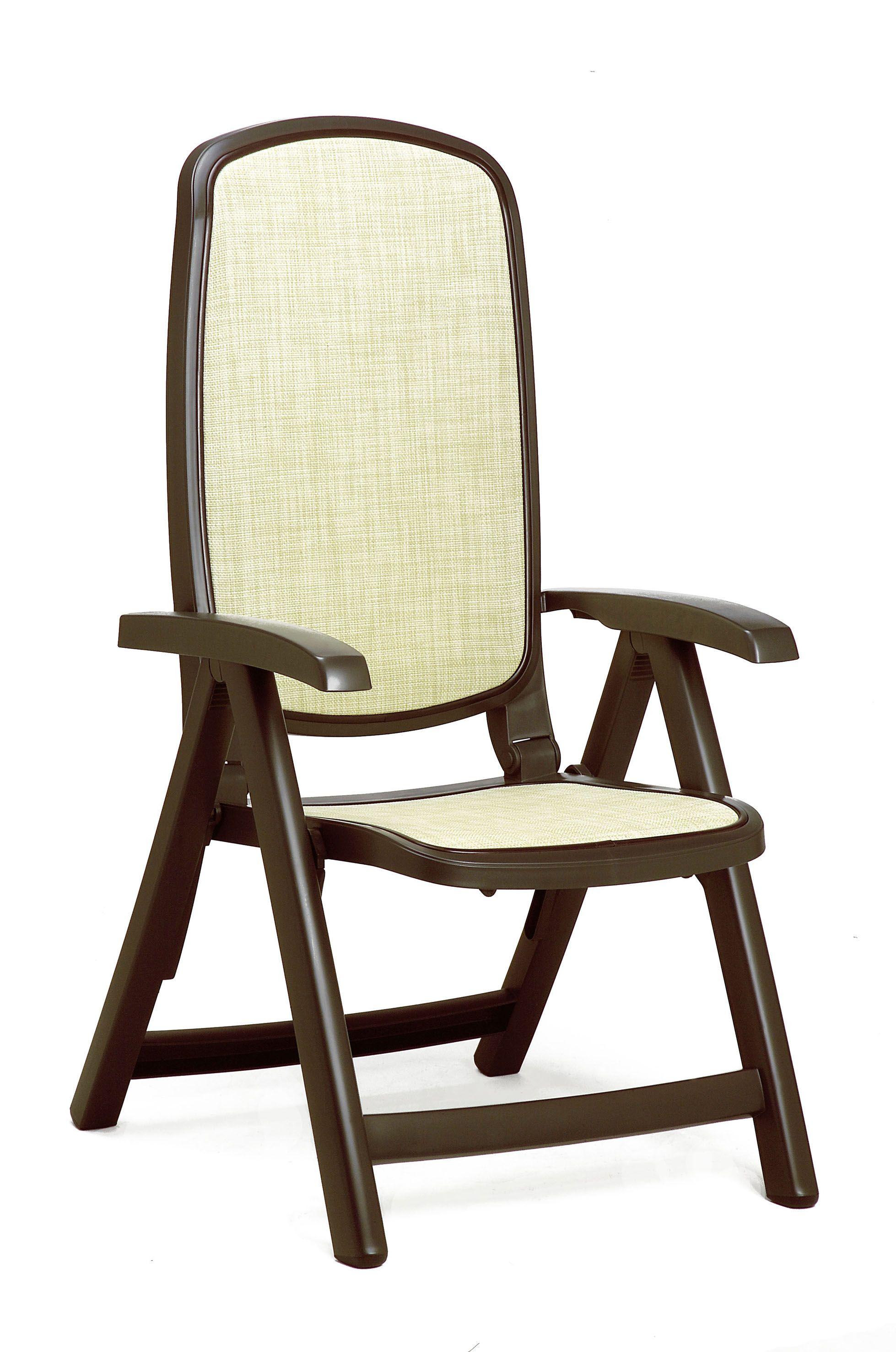 Nardi Delta Resin Sling 5 Position Folding Patio Chair