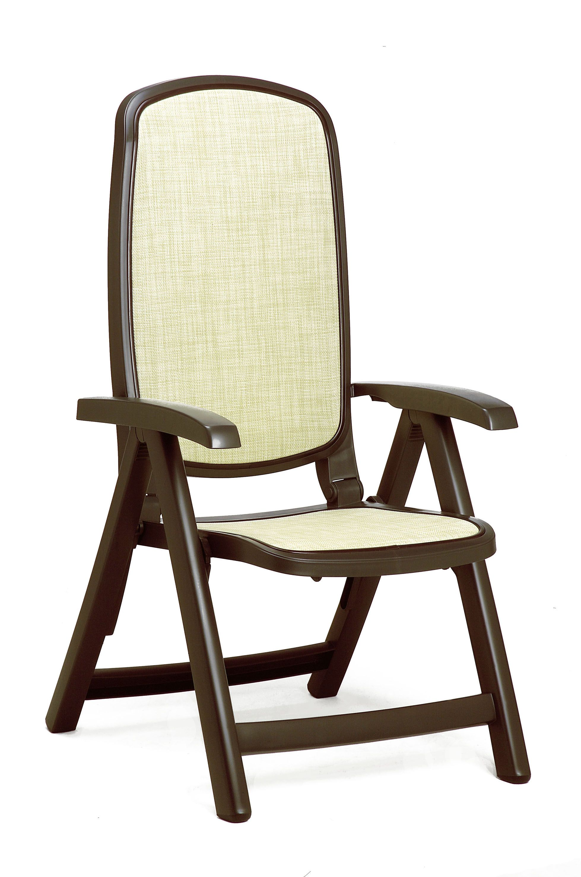 sling folding chairs designer dining nardi delta resin 5 position patio chair