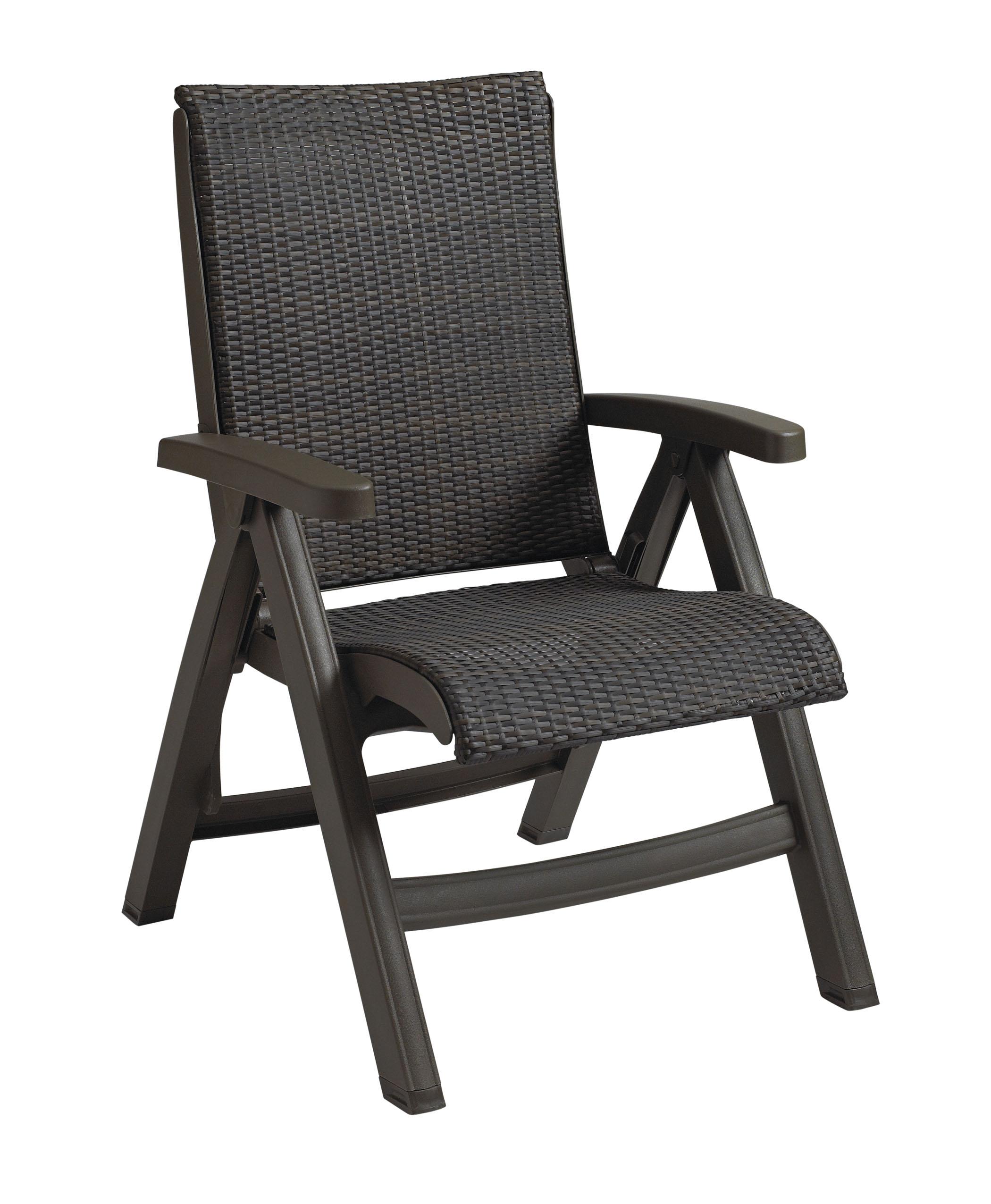Java All Weather Wicker Resin Folding Chair  ETT
