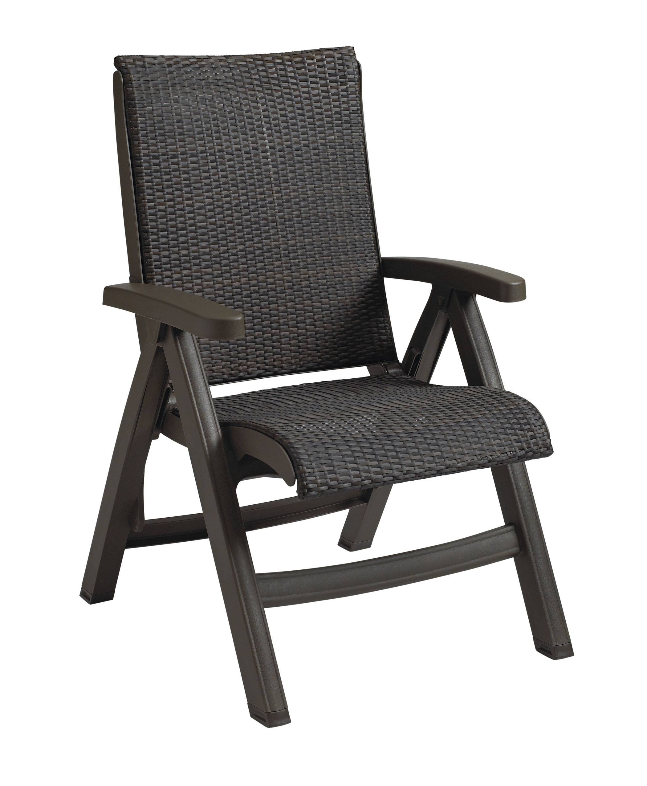 Patio Folding Chairs Java All Weather Wicker Resin Folding Chair Et Andt