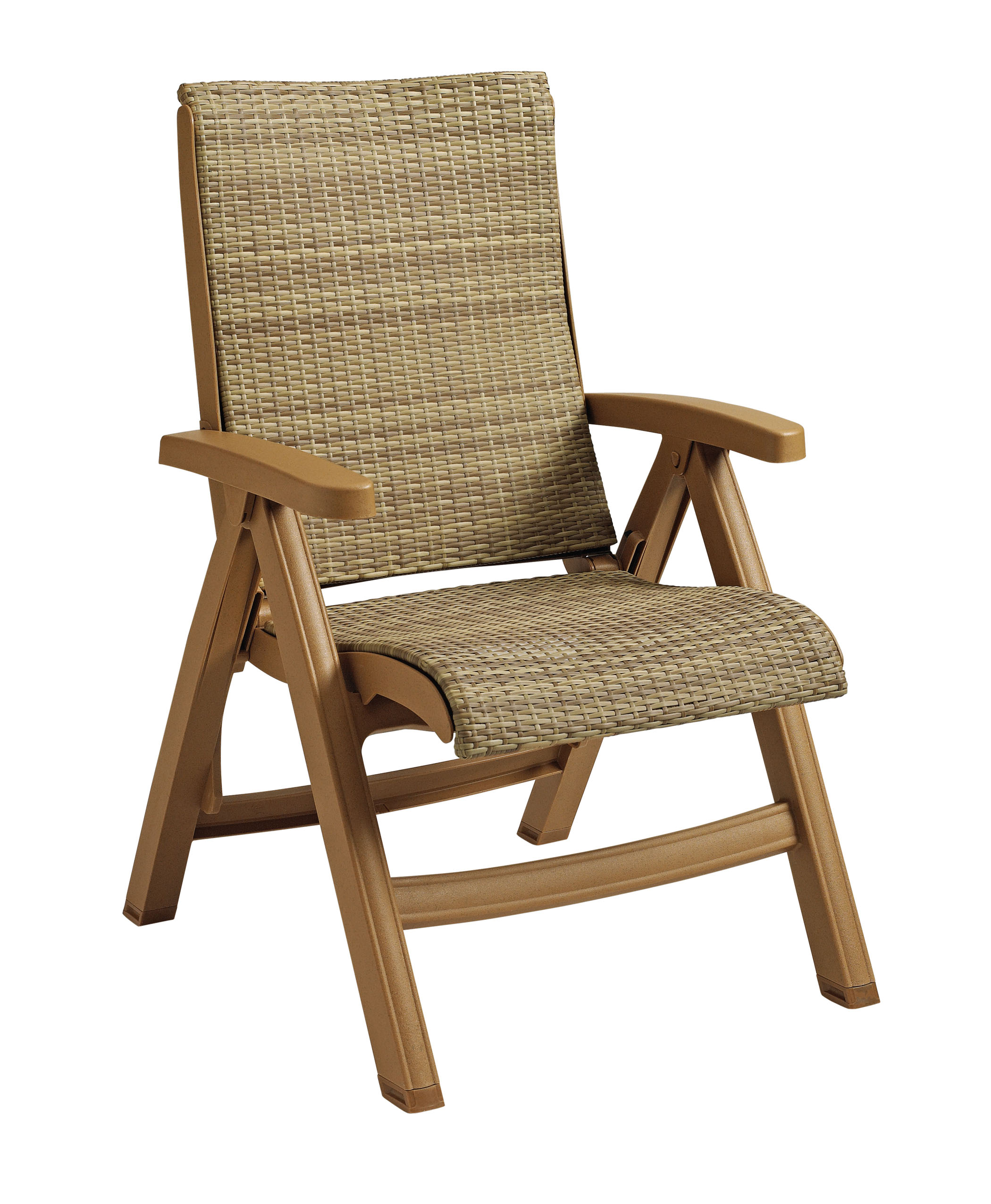 patio folding chairs hickory chair vanity stool java all weather wicker resin et andt