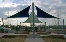 Tri-sail Park Shade Structure