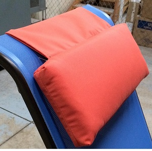 orange outdoor chairs chair cover rental cost headrest pillow for sling chaise lounges| et&t distributors, inc.