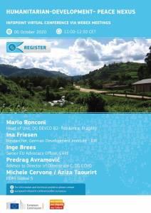 DEVCO – ETTG/DIE web Infopoint event: Humanitarian-Development- Peace Nexus