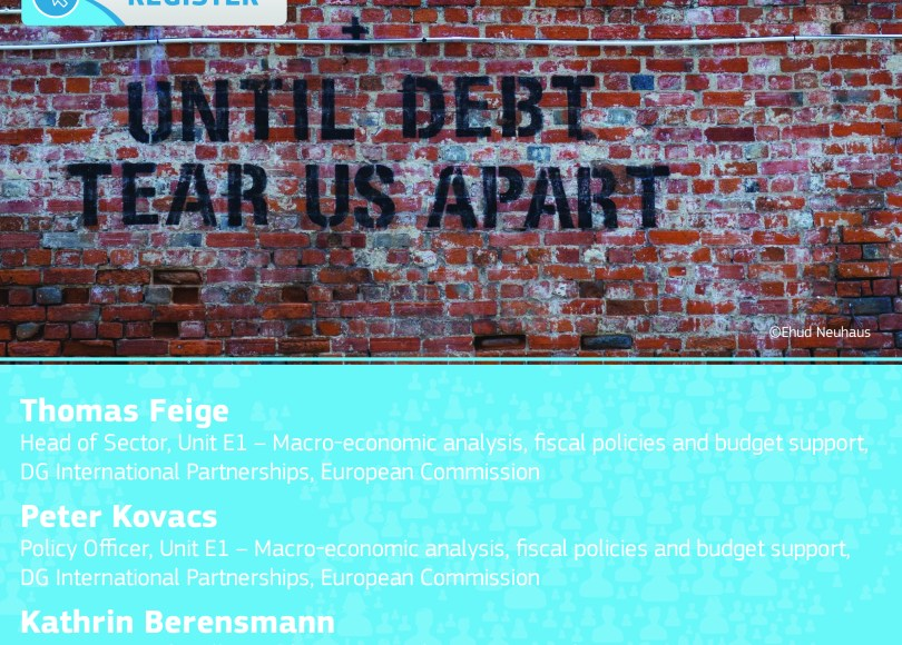 DG INTPA Infopoint event: COVID-19: How can the EU support its partner countries to avoid and resolve debt crises?