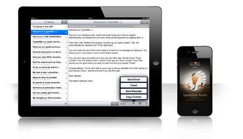 TypeIt4Me Touch for iPhone, iPod Touch and iPad
