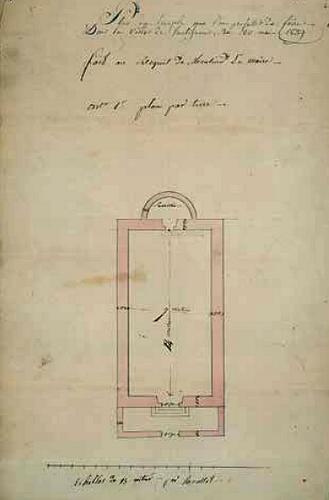 Taulignan Projet de temple rectangulaire 1839