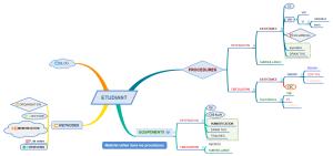 mind map réalisé avec xmind
