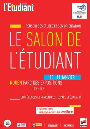 Salon de lEtudiant de Rouen  Parc des expositions de Rouen LE GRAND QUEVILLY 76120  Sortir