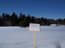 Poem on edge, Glynmill Trail March 2014