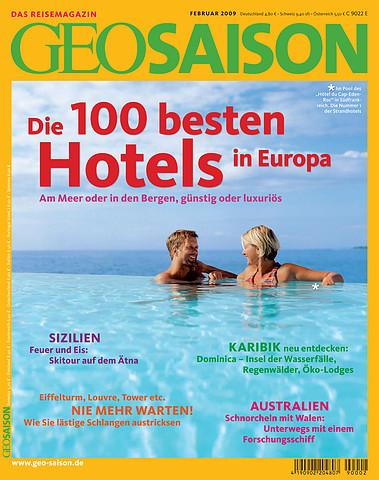 GEO SAISON kürt die 100 besten Hotels in Europa