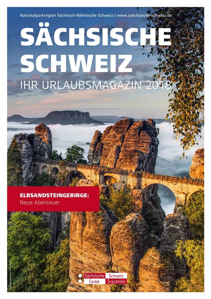 Urlaubsmagazin Sächsische Schweiz 2018 erscheint