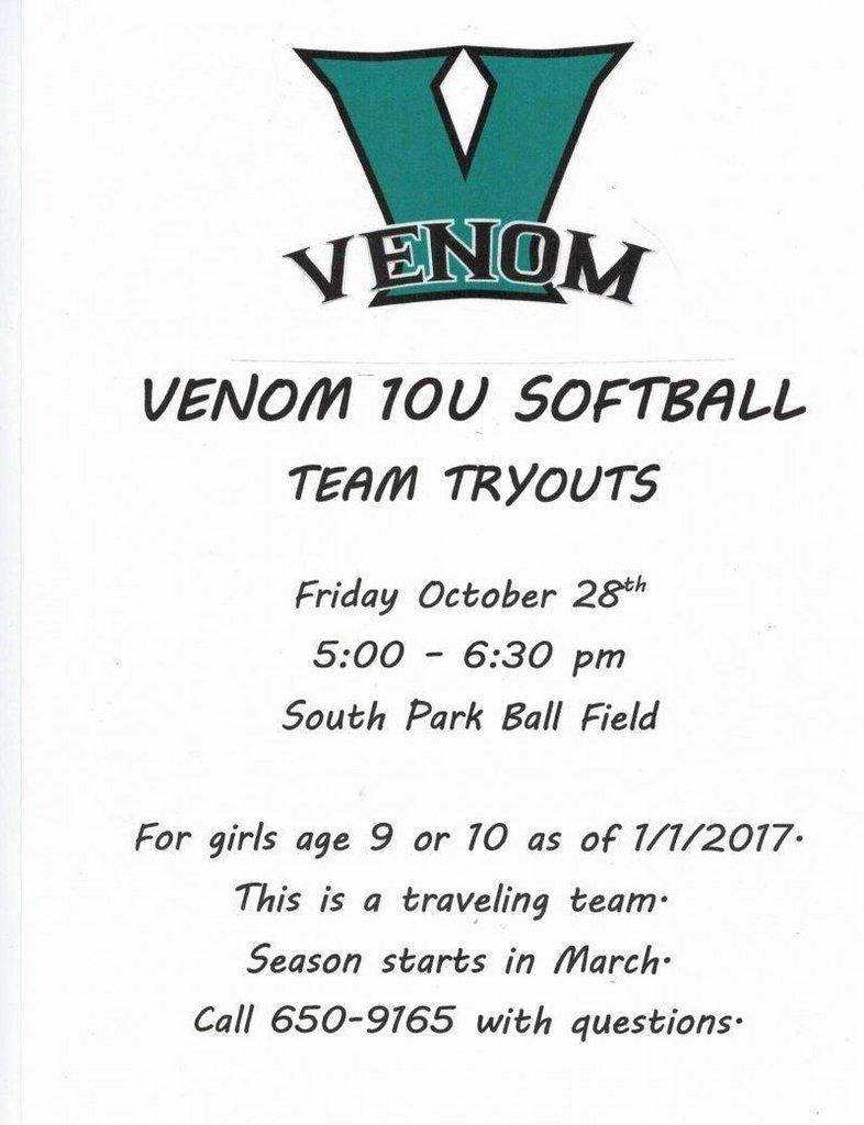 Is Your Little Slugger Ready for the Venom 10U Softball