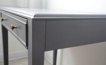 Table d'appoint vintage gris - side - Et Voilà