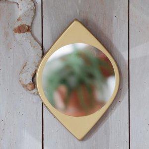 Miroir metal doré Etxe Mia!