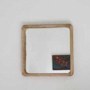 Miroir en bois carré grand modèle Etxe Mia!