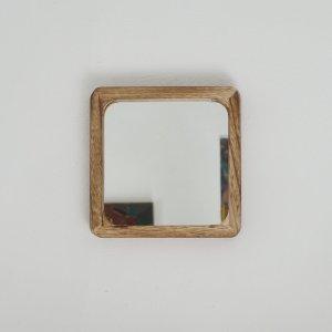 Miroir en bois carré petit modèle Etxe Mia!