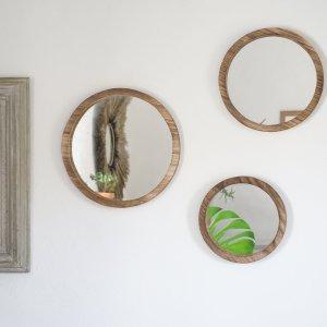 Miroirs en bois rond Etxe Mia!