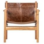Fauteuil cuir Wood Etxe Mia!