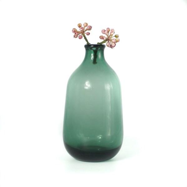 Vase verre Haut vert Etxe Mia!