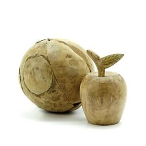 Boule bois pomme décorative