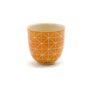 Gobelet grès orange géométrique Etxe Mia!