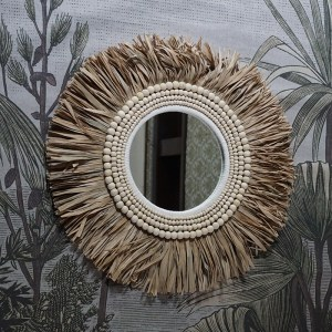 miroir fibres végétales et bois Etxe Mia!