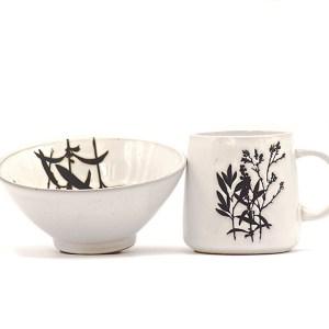 coupelle et mug en porcelaine Etxe Mia!