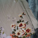plaid fleurs beige Etxe Mia!