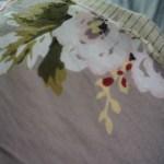 plaid fleurs gris Etxe Mia!