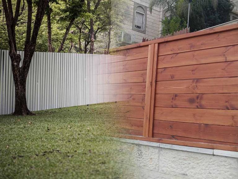 גדר מעץ VS גדר אלומיניום