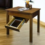 Casual Home Kennedy End Table with Concealed Drawer