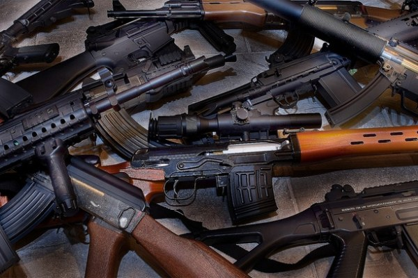 huge weapons cache