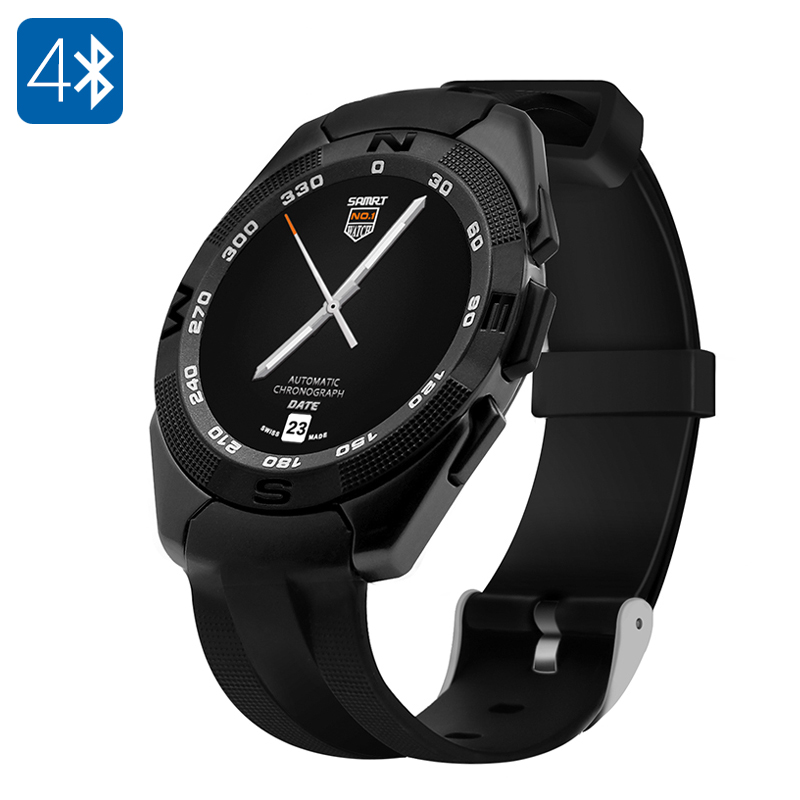NO.1 G5 Smart Watch - Heart Rate Monitor, Bluetooth 4.0, Sync With Smartphone, Pedometer, Sleep Monitor (Black)