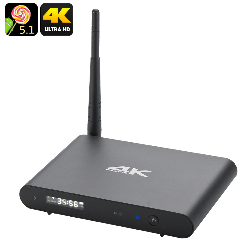 Octa Core Android 5.1 Wi-Fi TV Box - Ultra HD 4K Resolutions, 2.4GHz + 5GHz Wi-Fi, DLNA, Kodi, OTG
