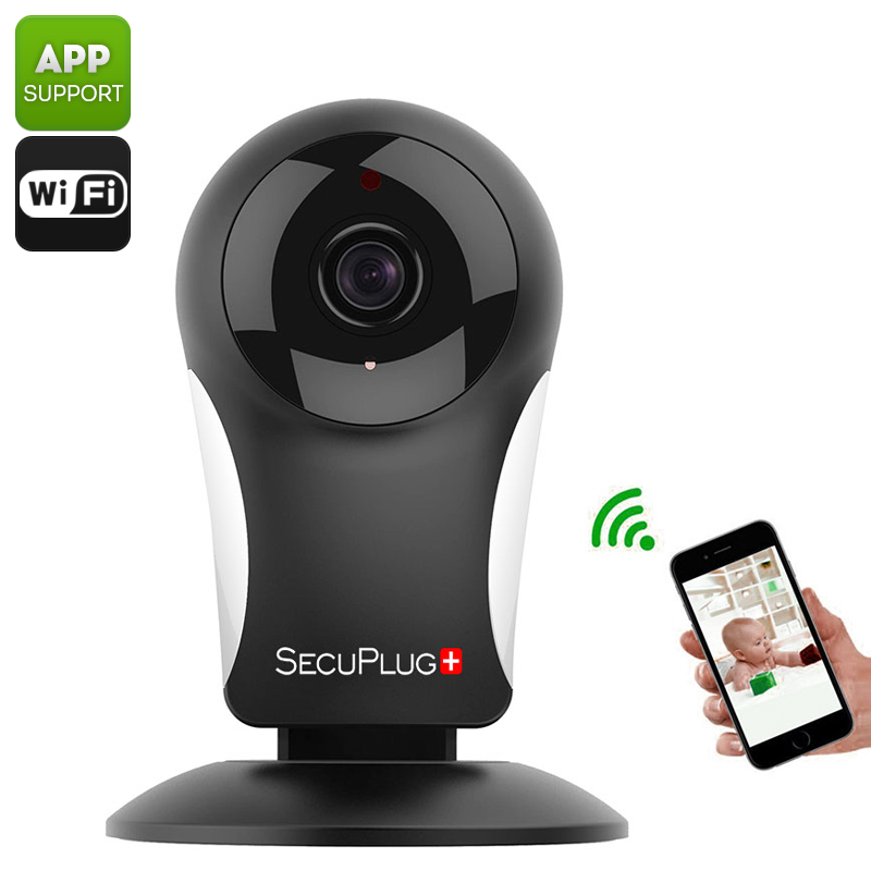 SecuPlug+ SP05 IP Camera - 960P, Wi-Fi, Smartphone App, 960P, Motion Detection, Alarm Notification, Two Way Audio