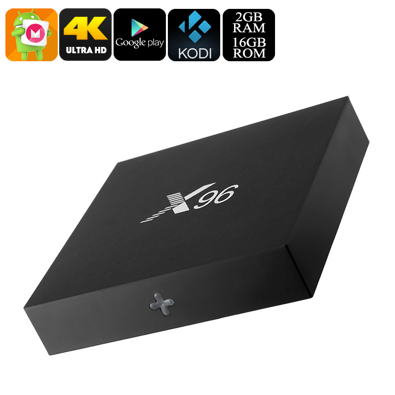 X96 Android 6.0 TV Box - Quad-Core CPU, 4K Movie Support, Airplay, Miracast, Google Play, Kodi TV, 16GB Memory