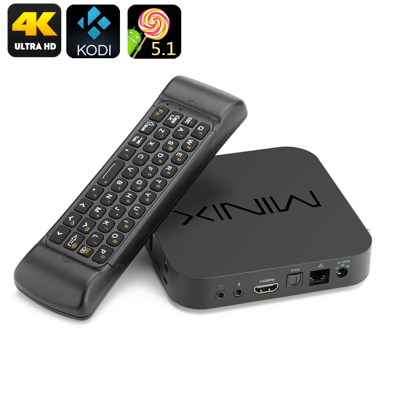 MINIX NEO U1 TV Box - 4K UHD, Kodi 16, Quad Core Amlogic S905 CPU, 2GB RAM, Air Mouse, Android 5.1, Dual Band Wi-Fi