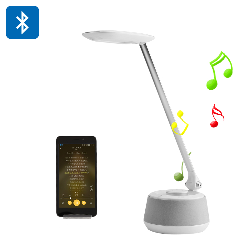 Bluetooth Speaker Desk Light - 3 Lighting Modes, 200 Lumen, Bluetooth Speaker, 70dB, 360-Degree Sound