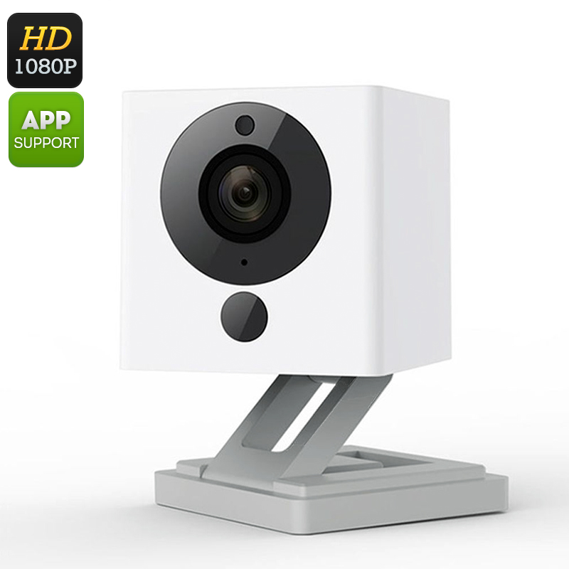 Xiaomi Wireless IP Camera - FHD, 1/2.7 Inch CMOS, Wi-Fi, iOS + Android APP, Smoke + CO Detector, Two-Way Audio