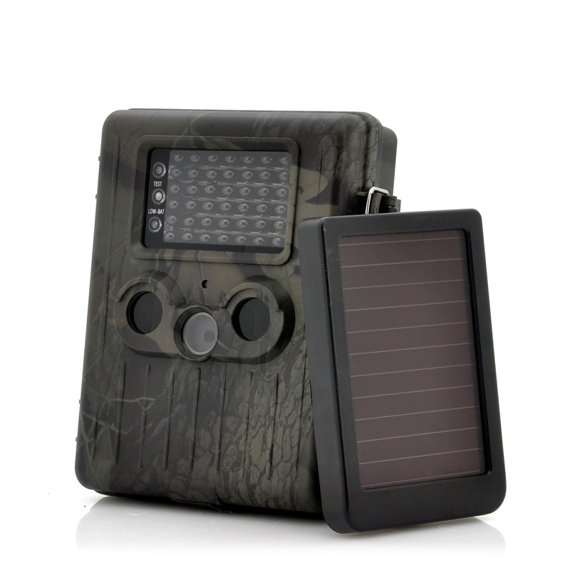 Game Camera With Rechargeable Battery + Solar Panel 'SolarTrail' - 1080p HD video, PIR Motion Detection, MMS View