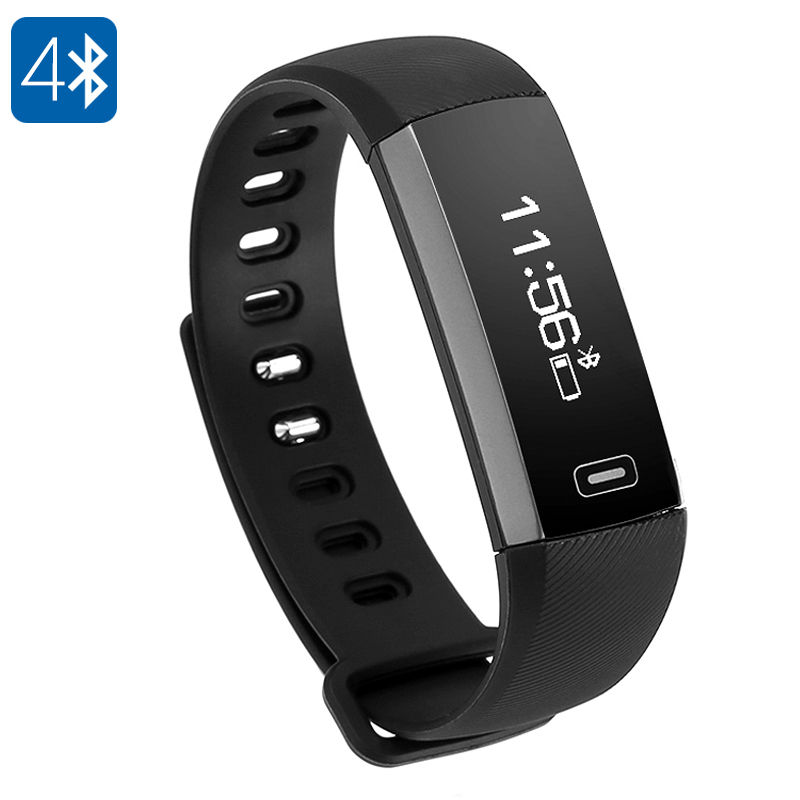 Fitness Tracker Bracelet M2 - Pedometer, Heart Rate Monitor, Sleeping Monitor, Calorie Counter, IP67, Touch Button (Black)