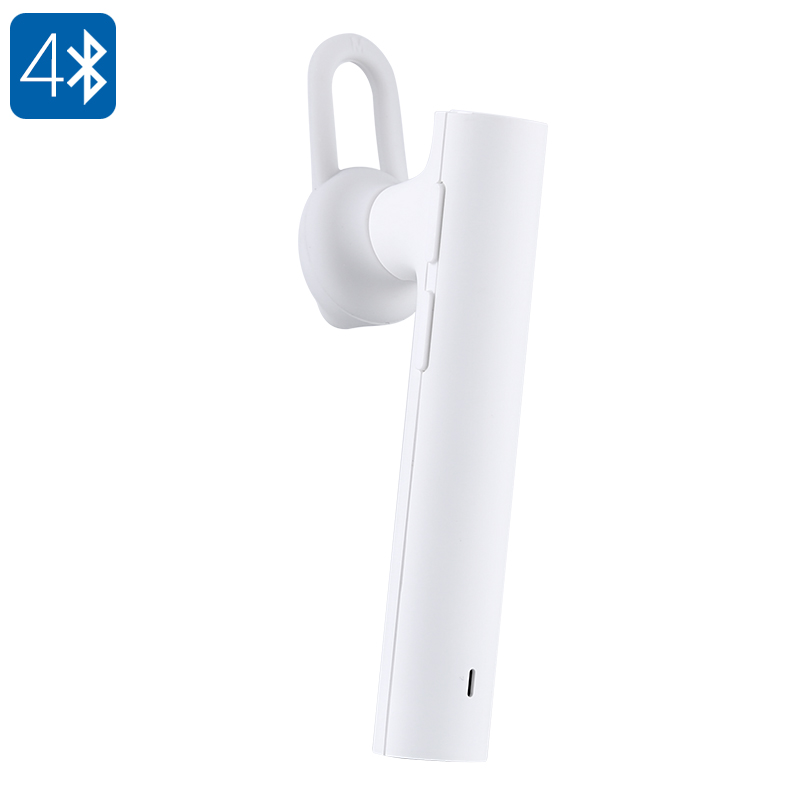 Xiaomi Mi Bluetooth Head Set Youth Edition - 98dB, CSR8610 Chipset, Noise Cancelling, Bluetooth 4.1, Hands-Free Calls (White)