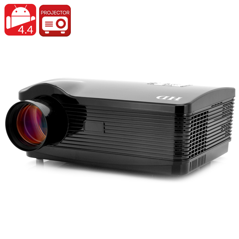 Quad Core Android 4.4 Projector 'DroidBeam II' - 1.5GHz Quad Core CPU, 250 Inch HD Projection, 3000 Lumens, Wi-Fi, 8GB Memory